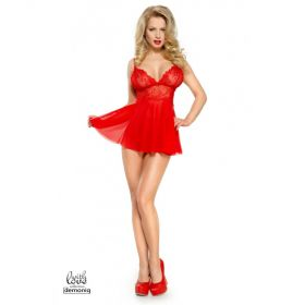 Demoniq - Constance Babydoll set red