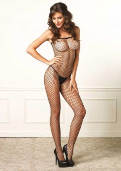 Industrial Net Halter Neck Bodystocking
