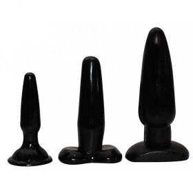 LIQUORICE DIP BUTTPLUGGS 3ST