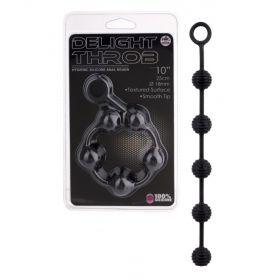 DELIGHT THROB ANAL STRIPPED BEADS BLACK