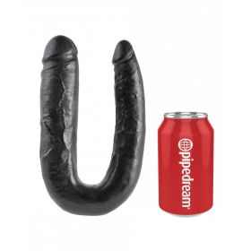 KING COCK BLACK U-SHAPED LARGE DOUBLE TROUBLE