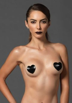 Satin Heart Nipple Cover